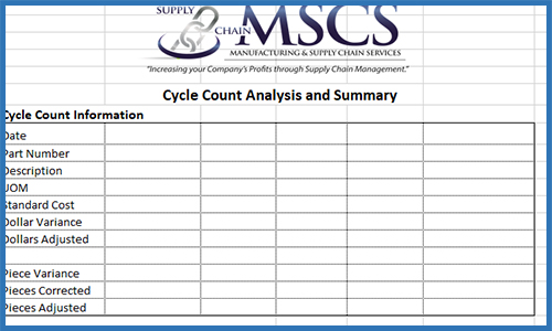 Cycle Count Analysis & Summary Template