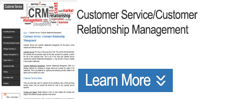 Click to Learn about Customer Service/CRM