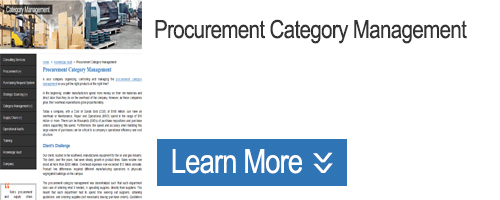 Click to Learn about Procurement Category Management